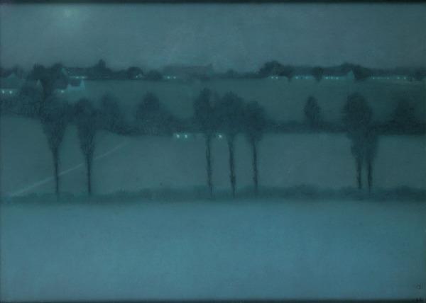"""William Degouve de Nuncques, """"Effet de nuit"""" (1898)"""
