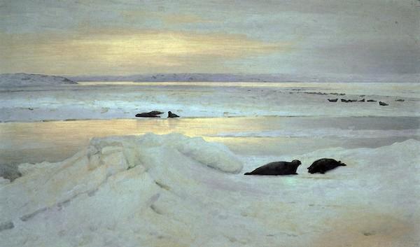 """Alexandre Borissov """"Nuit polaire au printemps"""" (1897)"""