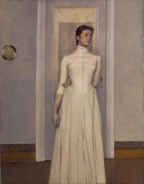 """Ferdinand Khnopff, """"Portrait de Marguerite"""" (1887)"""