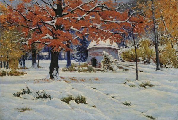 "Constantin Kryjitski, ""Neige précoce"" (1910)"