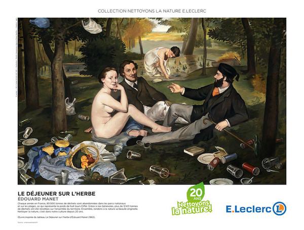 """Martin Hargreaves, Campagne pour les 20 ans de """"Nettoyons la nature"""" pour les Hypermarchés E.Leclerc (2017)"""