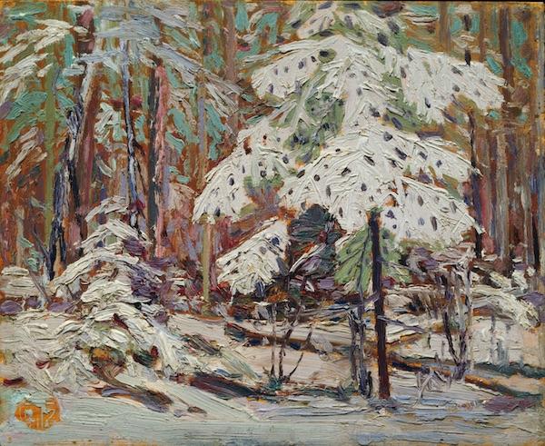 """Tom Thomson, """"Neige dans les bois"""" (1916)"""