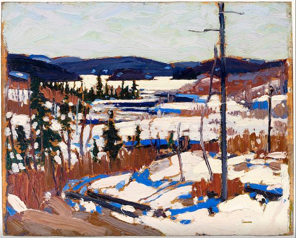 "Tom Thomson, ""Printemps précoce, Canoe Lake"" (1917)"
