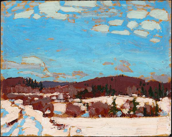 "Tom Thomson, ""Printemps précoce"" (1917)"