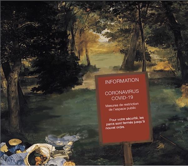 Vinciane Lacroix, Confinement 3:  Pas de déjeuner sur l'herbe