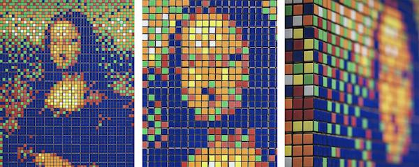 La Joconde en Rubik cube d'Invader