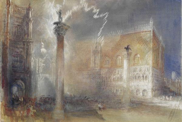 William Turner, un orage à Venise (Italie-1840)