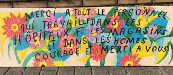 """Anonyme, """"Merci à tout le personnel"""" (CC-BY-SA  2.5 photo V. Lacroix)"""