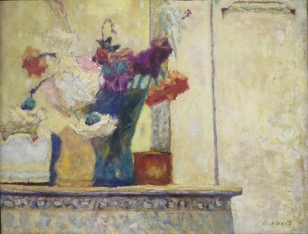 """Pierre Bonnard, """"Fleurs sur la cheminée"""" (1930)"""