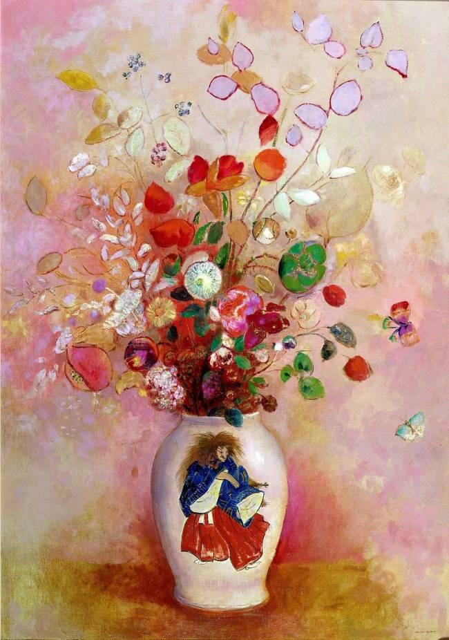 """Odillon Redon, """"Bouquet au vase japonais"""""""