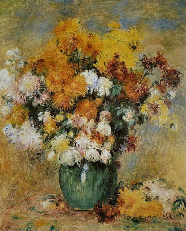 """Auguste Renoir, """"Bouquet de Chrysanthèmes"""" (entre 1883 et 1885)"""