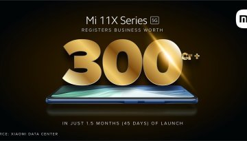 Mi 11X series witnessed record-breaking sales of worth INR 300 Crore in just 1.5 months of the launch