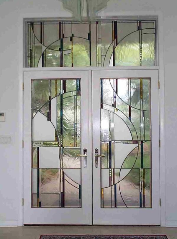 Leaded Glass Double Door Vtwctr