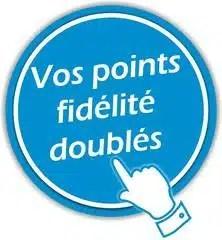 Vos points fidélités doublés le Samedi 17 et le Dimanche 18 Avril