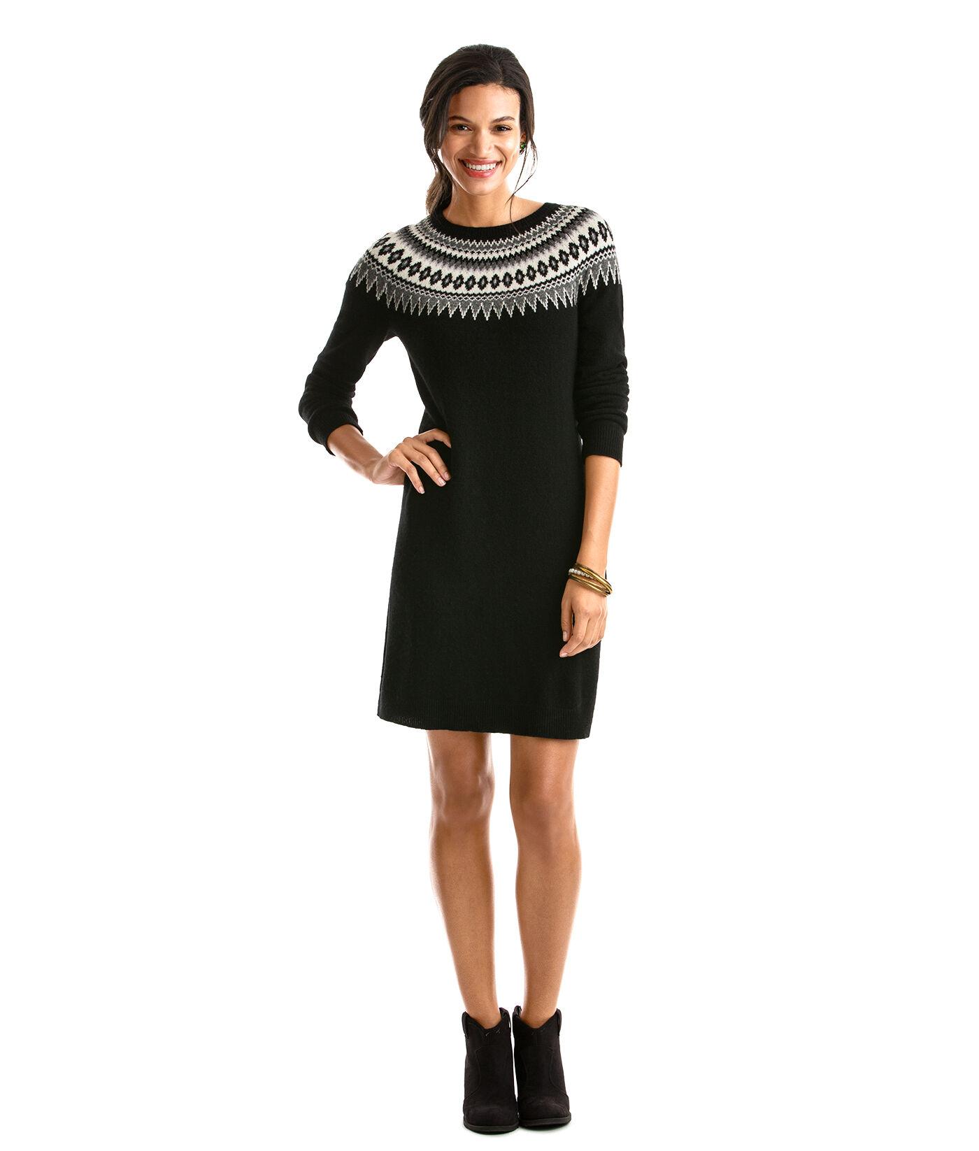 Fair Isle Sweater Dress - Coat Nj