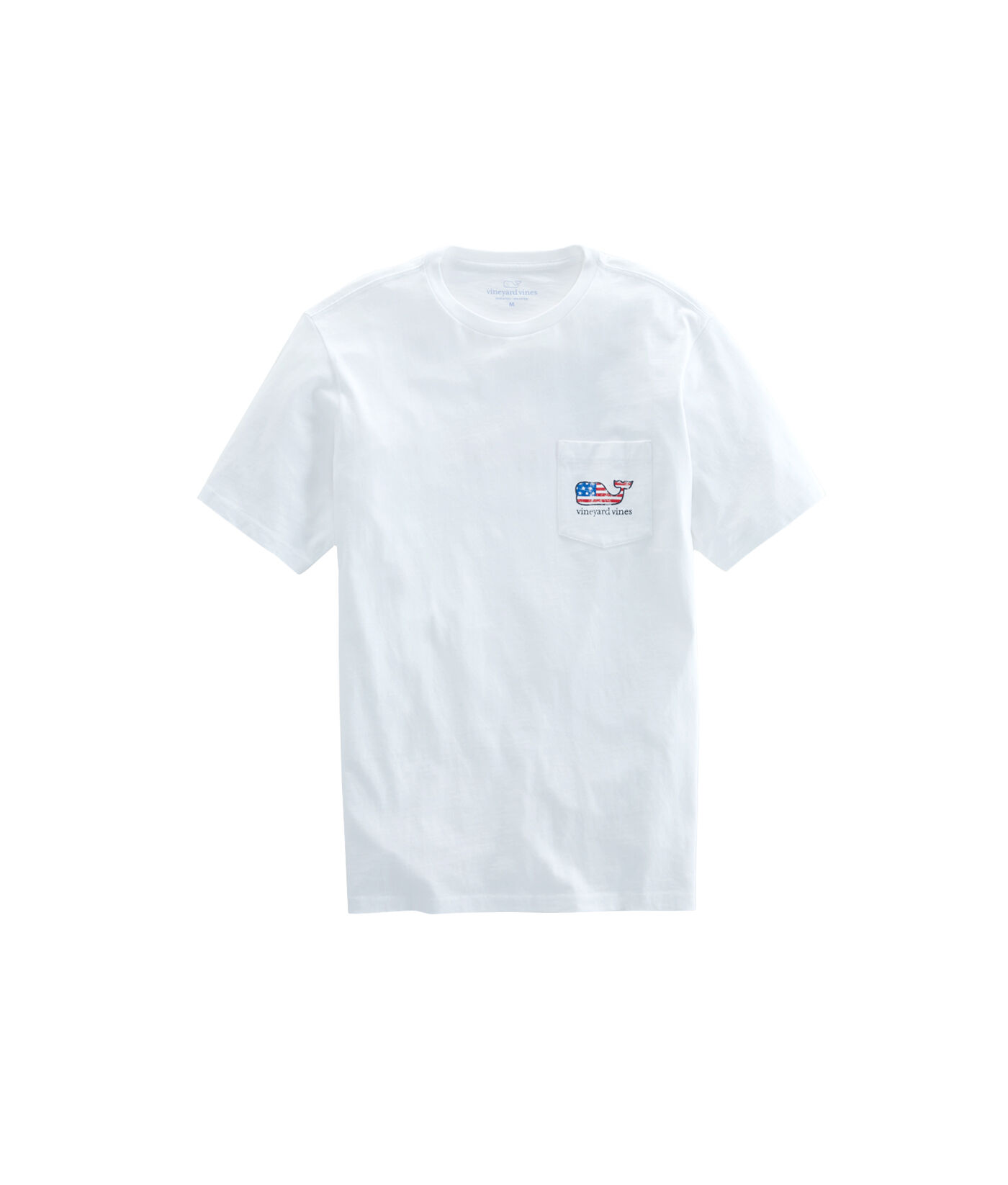 flag whale graphic t