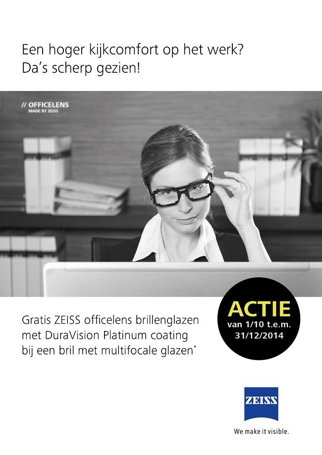 Zeiss officelens actie 2014