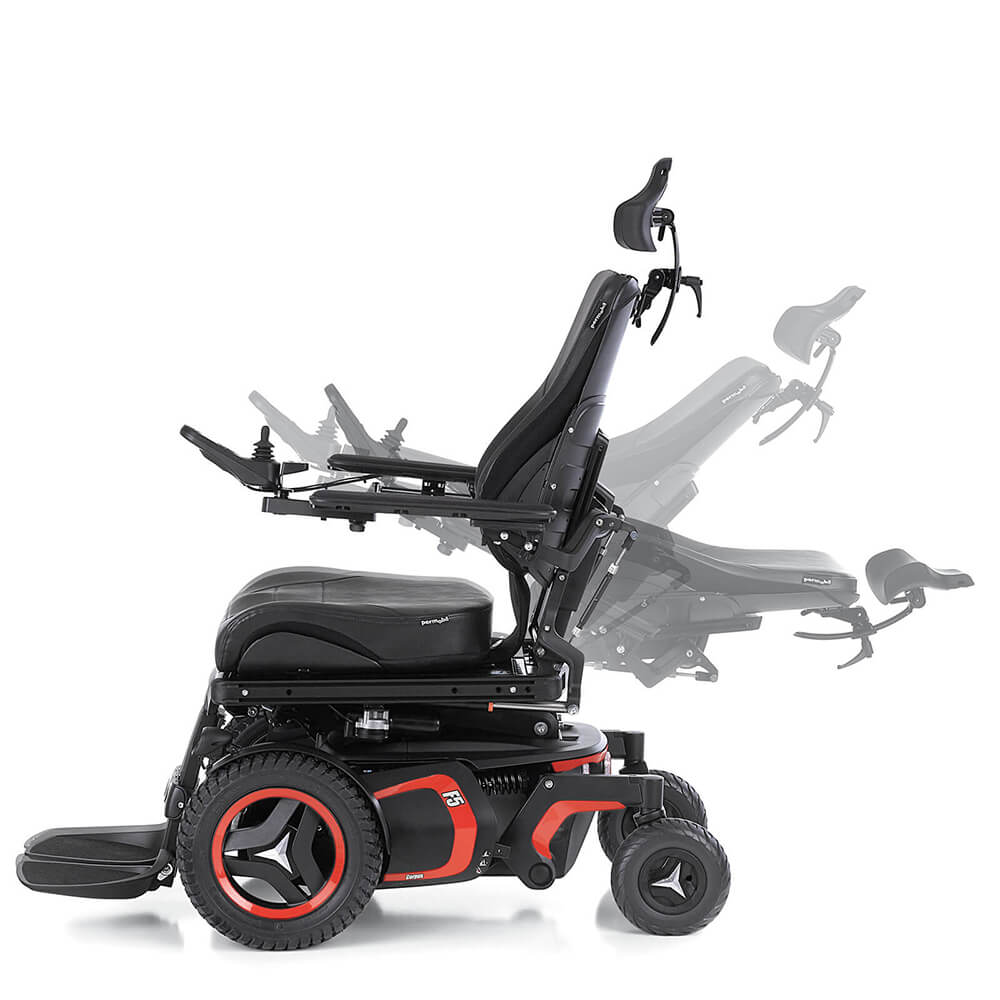 F5 Power Wheelchair Recline Ghost