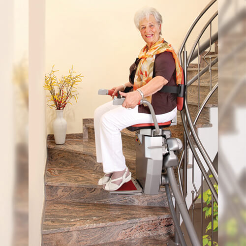 hawle curved stairlift indoor