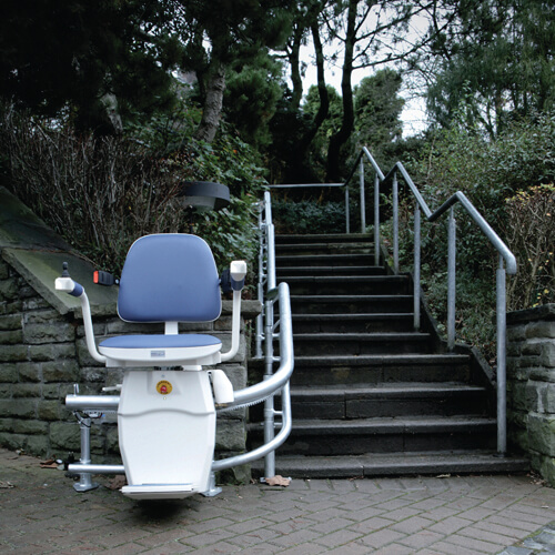 hawle curved stairlift outdoor