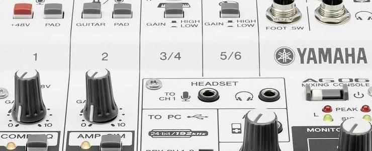 Yamaha CAG06 AG06 Mixer, Bianco (Tools)