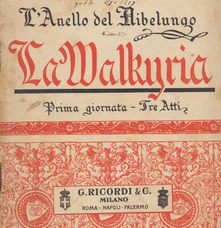 La Walkiria – Richard Wagner (Libretto)