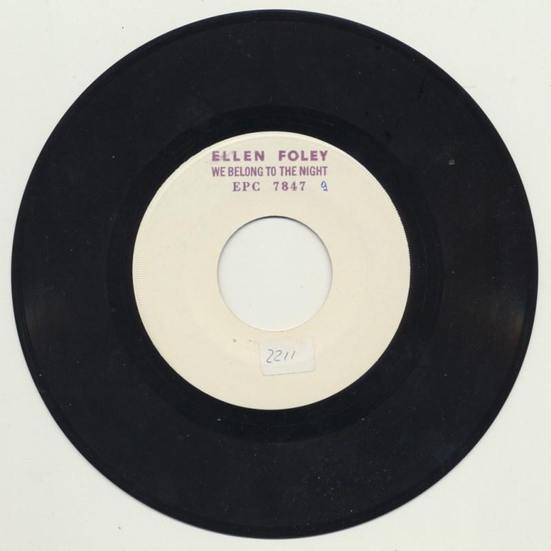 Ellen Foley - We belong to the night (Promo)