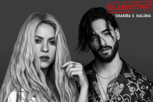 Shakira con Maluma, Taburete, Morat y Christina Aguilera, en las canciones de la semana