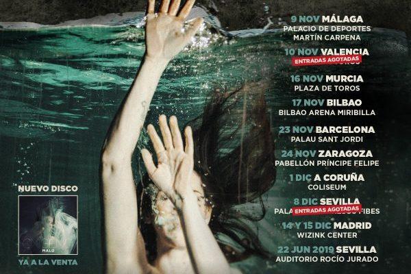 Malú comienza mañana en Málaga, su esperado 'Oxígeno Tour'