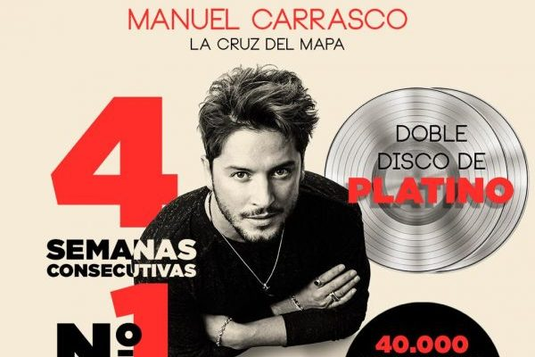 Universal certifica ya como doble disco de platino, 'La Cruz del Mapa' de Manuel Carrasco