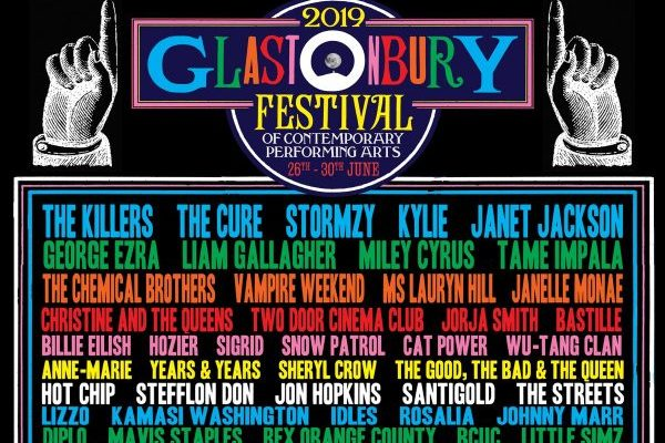 The Killers, The Cure, Kylie Minogue, Janet Jackson, Miley Cyrus, Liam Gallagher y Rosalía actuarán en Glastonbury 2019