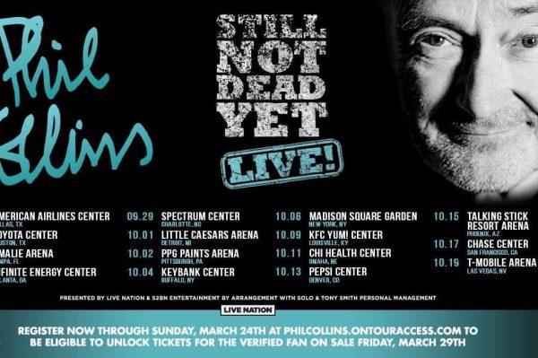 Phil Collins anuncia nueva gira por los Estados Unidos, con su 'Still Not Dead Yet, Live!'
