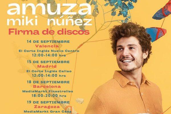 Miki Núñez confirma 6 firmas de discos para su primer trabajo 'Amuza'