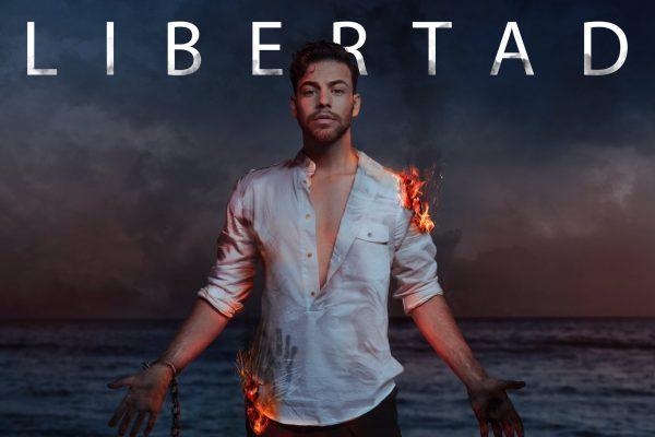 Así de espectacular luce Agoney, en la portada de su álbum 'Libertad'