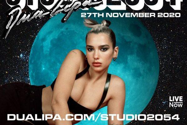 Dua Lipa dará una actuación online el próximo 27 de noviembre, 'Studio 2054'