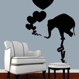 Decoración Paredes Elefante Love