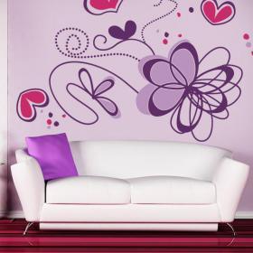 Pegatinas paredes flores rom nticas vinilos decorativos - Puzzles decorativos ...