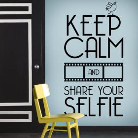 Vinilo Decorativo Keep Calm And Share Your Selfie