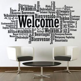 Vinilos Decorativos Pegatinas Bienvenido Idiomas