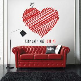 Vinilo Decorativo Keep Calm And Love Me