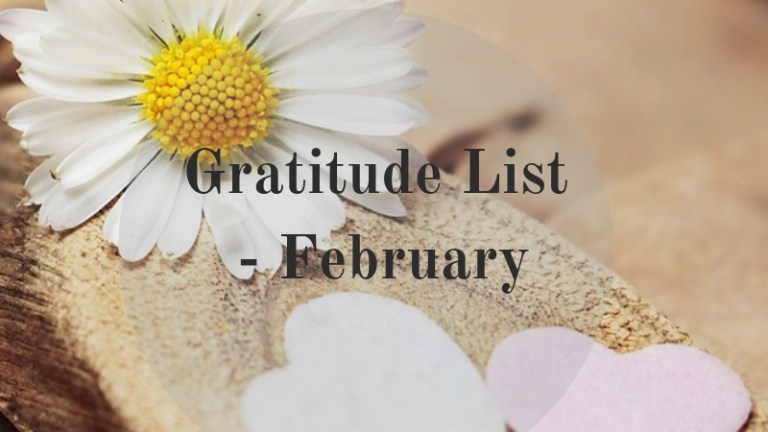 Gratitude List – February