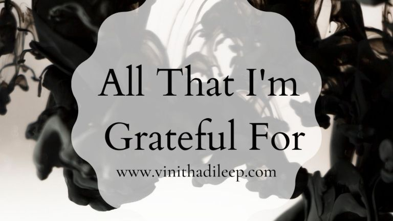 All That I'm Grateful For