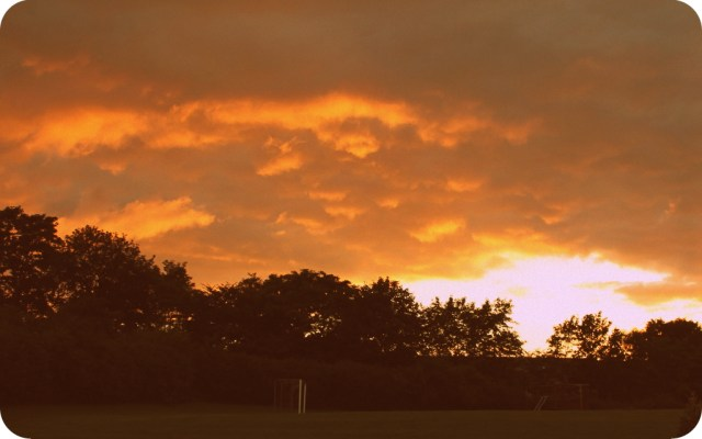 Solen gik ned igen i aften