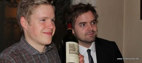 2 glade og dygtige smagere fra CBS vinklub