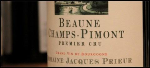 2010 Jacques Prieur, Champs Pimont, Beaune 1'er Cru