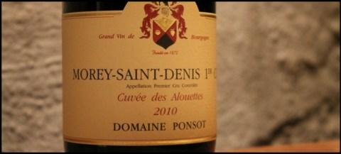 2010 Ponsot, Cuvée des Alouettes, 1'er cru, Morey-Saint-Denis