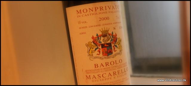 2000 Giuseppe Mascarello, Monprivato, Barolo
