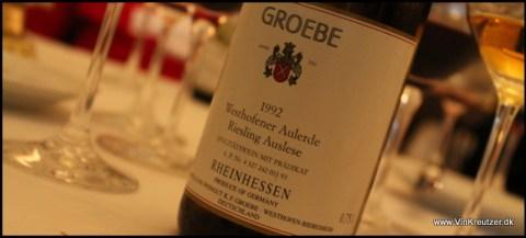 1992 Groebe, Westhofener Aulerde, Riesling, Auslese, Rheinessen