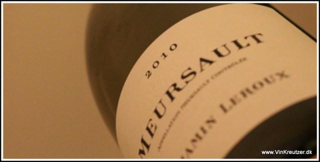 2010 Benjamin Leroux, Meursault