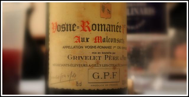 1991 Grivelet, Aux Malconsorts, 1'er Cru, Vosne-Romanée